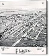 1890 Vintage Map Of Plano Texas Acrylic Print
