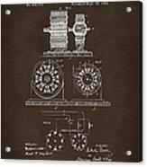 1891 Tesla Electro Magnetic Motor Patent Espresso Acrylic Print
