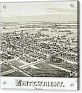 1891 Vintage Map Of Whitewright Texas Acrylic Print