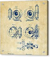 1892 Barker Camera Shutter Patent Vintage Acrylic Print