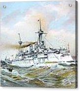 1895 - The Brandenburg Squadron At Sea - Color Acrylic Print