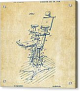 1896 Dental Chair Patent Vintage Acrylic Print