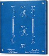 1896 Dental Excavator Patent Blueprint Acrylic Print
