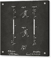 1896 Dental Excavator Patent Gray Acrylic Print