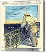 1897 - Le Rire Journal Humoristique Paraissant Le Samedi Magazine Cover - July 31 - Color Acrylic Print