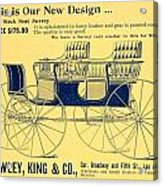 1898 - Hawley King And Company - Surrey Buggy Advertisement - Color Acrylic Print