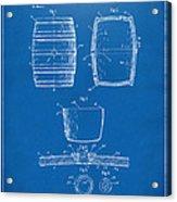 1898 Beer Keg Patent Artwork - Blueprint Acrylic Print