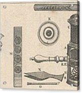18th Century Microscope, Artwork Acrylic Print