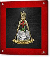 18th Degree Mason - Knight Rose Croix Masonic Jewel  Acrylic Print