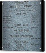 18th Infantry Regiment History Acrylic Print