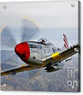 A P-51d Mustang In Flight Acrylic Print