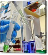 Scientific Experiment In Science Research Lab Acrylic Print
