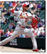 St Louis Cardinals V Colorado Rockies Acrylic Print