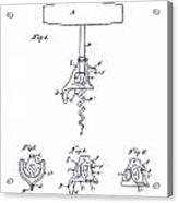 1900 Corkscrew Patent Blueprint Acrylic Print