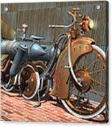 1900 Dual Rocket Steambike Acrylic Print