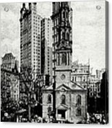 1900 St. Paul's Chapel New York City Acrylic Print