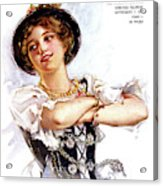 1900s 1913 Smiling German Girl Wearing Acrylic Print