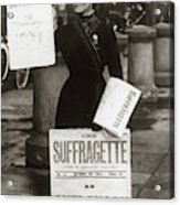 1900s British Suffragette Woman Acrylic Print