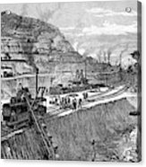 1900s Engraving Of Construction Acrylic Print