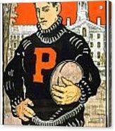 1901 - Princeton University Football Poster - Color Acrylic Print