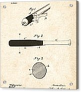 1902 Baseball Bat Patent Acrylic Print