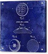 1902 Billiard Ball Patent Drawing Blue Acrylic Print