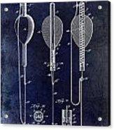 1902 Self Strike Fish Float Patent Acrylic Print
