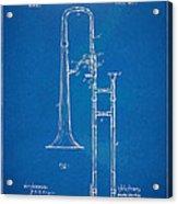 1902 Slide Trombone Patent Blueprint Acrylic Print