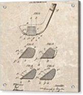 1903 Golf Club Patent Acrylic Print