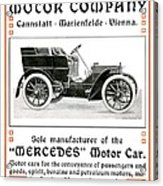1904 - Daimler Motor Company Mercedes Advertisement - Color Acrylic Print