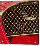 1904 Franklin Open Four Seater Grille Emblem Acrylic Print by Jill Reger