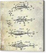 1907 Fishing Lure Patent Acrylic Print