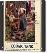 1907 Vintage Kodak Tank Advertising Acrylic Print