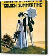 1908 - I'll Be With You In The Golden Summertime - Lew Bonner And J.j. Bachman - Sheet Music - Color Acrylic Print