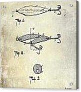 1909 Fishing Lure Patent Drawing Acrylic Print