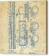 1909 Flute Patent - Vintage Acrylic Print