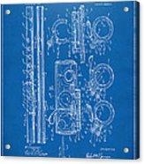 1909 Flute Patent - Blueprint Acrylic Print