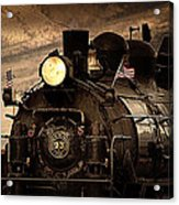 1909 Steam Engine 1909 Acrylic Print by Jeanne  Bencich-Nations
