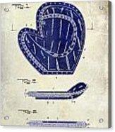 1910 Baseball Patent Drawing 2 Tone Acrylic Print