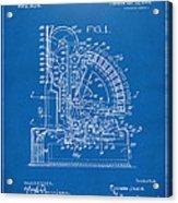 1910 Cash Register Patent Blueprint Acrylic Print