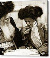 1910 Studying The Torah Acrylic Print