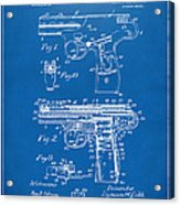 1911 Automatic Firearm Patent Artwork - Blueprint Acrylic Print