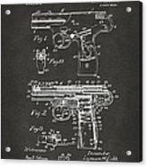 1911 Automatic Firearm Patent Artwork - Gray Acrylic Print by Nikki Marie Smith