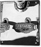 1911 Pope Hartford Model W Control Pedals Acrylic Print
