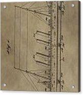 1911 Steamship Patent Acrylic Print