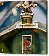 1912 Rolls-royce Silver Ghost Cann Roadster Skull Hood Ornament Acrylic Print