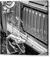 1912 Rolls-royce Silver Ghost Rothchild Et Fils Style Limousine Snake Horn -0711bw Acrylic Print