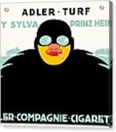 1913 - Adler Cigarette German Advertisement Poster - Color Acrylic Print