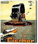 1913 - Fischer Magneto German Advertisement Poster - Color Acrylic Print
