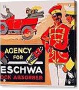 1913 - Geschwa Automobile Shock Absorber Adbertisement - Color Acrylic Print